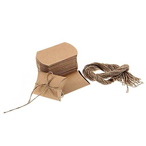 50pcs Gastgeschenk Geschenkbox Schachtel Pillow Box Hochzeit Geburtstag