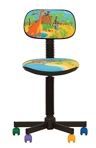 Bambo - Sedia da ufficio per bambini. Girevole a 360 ° .Sedile regolabile. Cartella regolabile. CHAISE-EXPERT