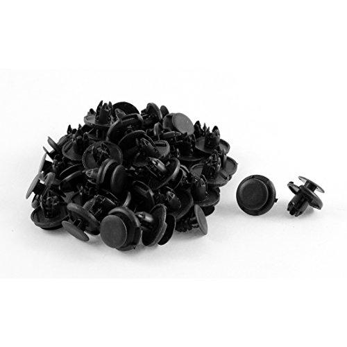 uxcell 50 Pcs Push Type Rivet Fastener Bumper Pin Clips