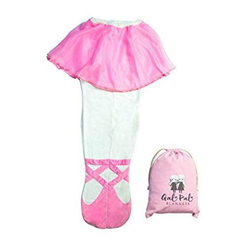 Gal Pal Shop: Ballerina Blanket - Girls Sleeping Bags Sleepover and Birthday Party Ideas - Birthday Gift Idea for Girls Ages 5-10, Size 24 x 56, Pink]()