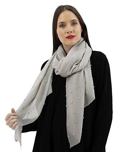 BENANCY Women's Lightweight Solid Color Scarf Fashion Long Shawl Wrap For Party 58376 G ()