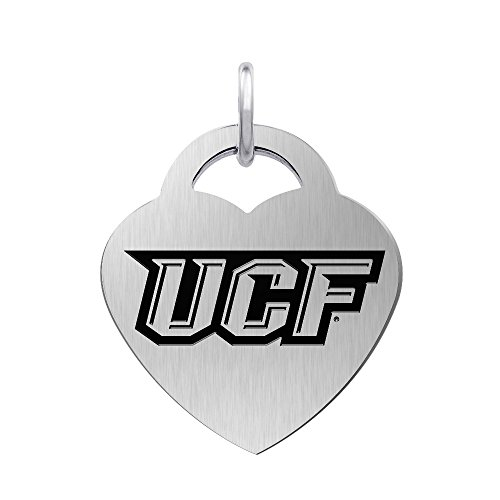 Central Florida Knights Laser Engraved Stainless Steel Heart Charm