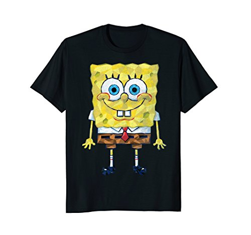 Spongebob SquarePants Geometric Textured Design T-Shirt (Spongebob Women For Tshirt)