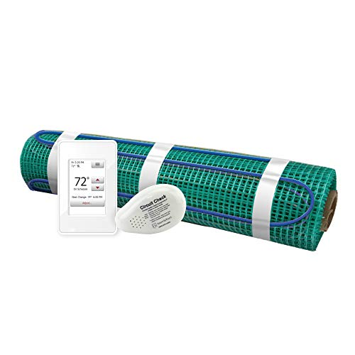 Floor Heating Kit 120V-Tempzone Flex Roll 1.5' x 18' + Touch Screen Thermostat