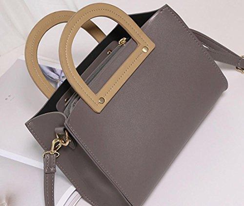 YCMDM donne pacchetto della spalla di modo Borsa retrò Borsa Messenger Portable Piccola Piazza Borsa , gray