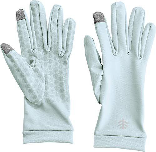 Coolibar UPF 50+ Unisex UV Gloves - Sun Protective (X-Small- Light Blue)