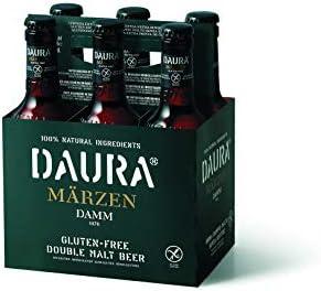 Daura Marzen Damm Cerveza Sin Gluten - Pack de 6 Botellas x 330 ml ...