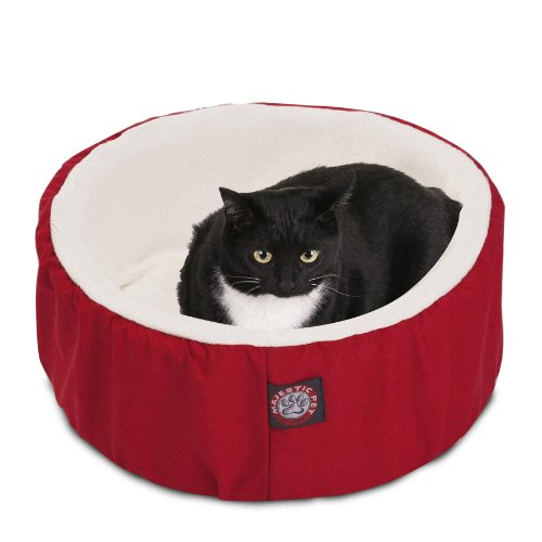 20 inch Red Cat Cuddler Pet Cat Bed By Majestic Pet Products
