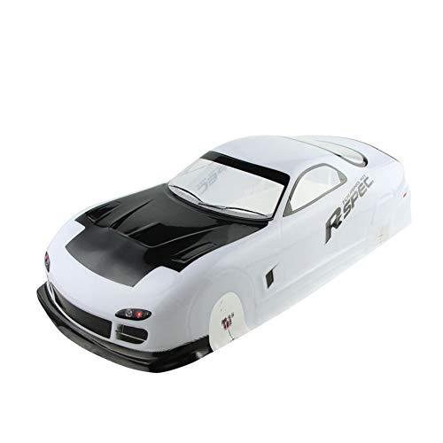 Coolplay 1/10 PVC Car Body Shell RC Racing Car Accessories for Mazada Rx7 (Rc Drift Car Body Shell 1 10)