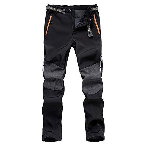 DEKINMAX Pantalon Homme Pantalon Thermique Softshell Doublé Polaire Coupe-Vent Imperméable Pantalons de Randonnée pour Outdoor Sport Camping Trekking Ski Hiver Montagne