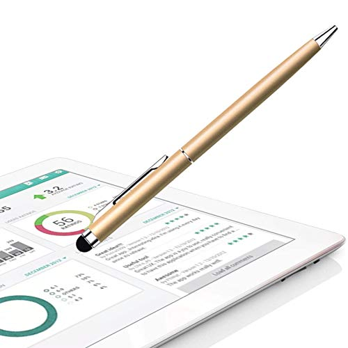 Stylus Pen anngrowy Stylus Pens for Touch Screens Universal Stylus Ballpoint Pen 2 in 1 Stylists Pens for iPad iPhone Tablet Laptops Kindle Samsung Galaxy All Capacitive Touch Screens