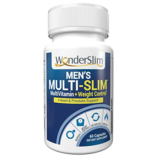 Multi-Slim Men's MultiVitamin with Turmeric Curcumin & Saw Palmetto for Heart & Prostate Support | 60 Count