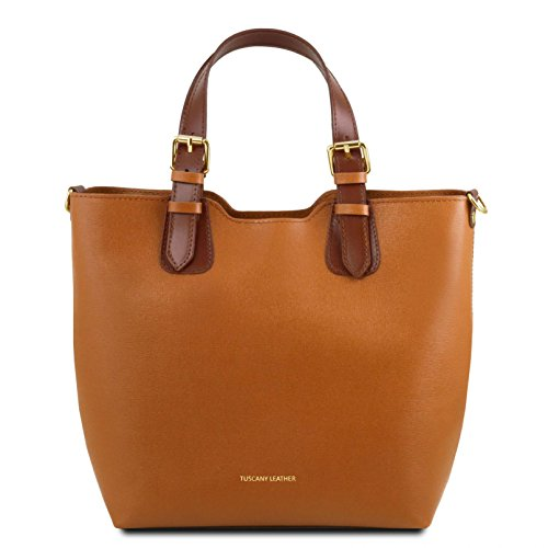 Tuscany Leather TL Bag Handtasche aus Saffiano Leder - TL141696 (Gelb) Cognac jjlqr9S