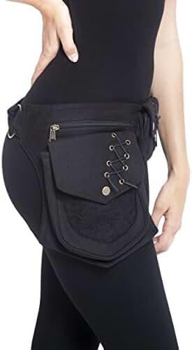 Practical Fannypack Cotton Waistbag Travel Utility Travel Belt