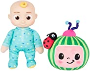 "CoComelon JJ and Melon Plush Stuffed Animal Toys, 2 Pack - 8"" Plush - for Ages 18 Months a"