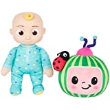"CoComelon JJ and Melon Plush Stuffed Animal Toys, 2 Pack - 8"" Plush - for Ages 18 Months and up"