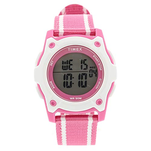 Timex Girl's Time Machines TW7C26200 Pink Suede Japanese Quartz Fashion Watch