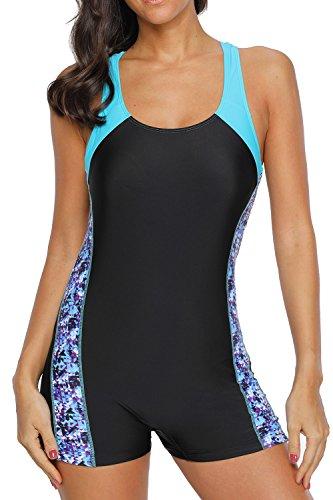 beautyin Ladies Pro Sport Swimsuit One Piece Women Competitive Swimwear Boyleg
