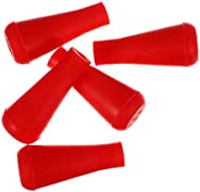 VOSAREA 5pcs Rubber Blunt Broadheads Arrow Tips Archery Practice Internal Hunting Arrowhead Broadhead Tips for