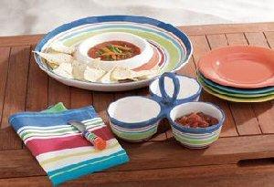 Beach Stripe 3-Part Divided Dish