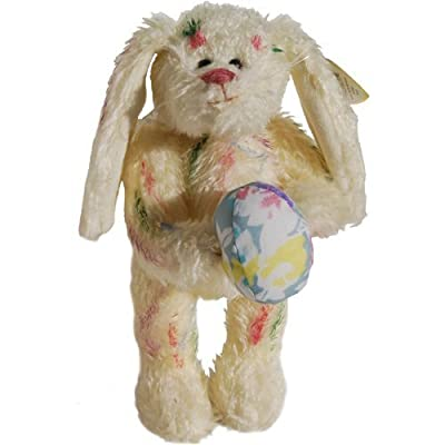 Ty Attic Treasures - Georgia the Rainbow Bunny Rabbit with Easter Egg: Toys & Games