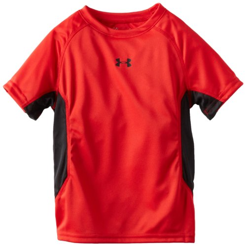 - Under Armour Little Boys' Scrimmage Short Sleeve Tee, Red, 5