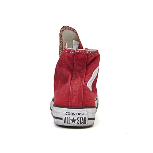 sneakerse converse all star hi ltd canvas rosso slavato