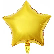 ZOOYOO 24pcs Star Shape Foil Mylar Balloons,18 Inch Gold Pentagram Balloon For Birthday Party & Wedding Decoration