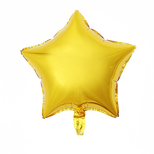 Star Shape Foil Balloon - ZOOYOO 24pcs Star Shape Foil Mylar Balloons,18 Inch Gold Pentagram Balloon For Birthday Party & Wedding Decoration