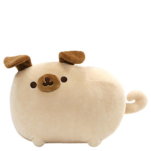 GUND Pusheen Pugsheen Stuffed Plush Dog with Poseable Ears, Tan, 9.5