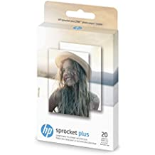 """HP Photo Paper exclusively for HP Sprocket Plus Instant Photo Printer, (2.3"""" x 3.4""""), 20 Sticky-Backed Sheets (2FR23A)"""