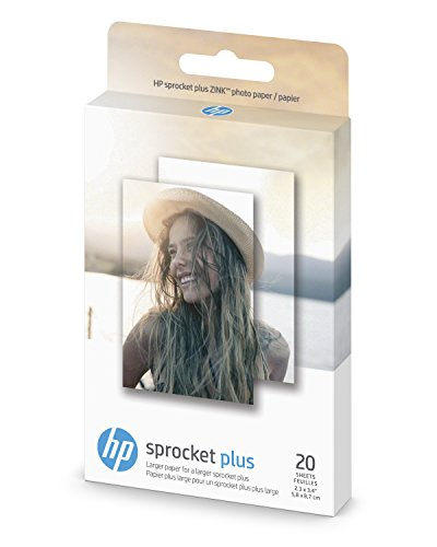 - HP Photo Paper exclusively for HP Sprocket Plus Instant Photo Printer, (2.3