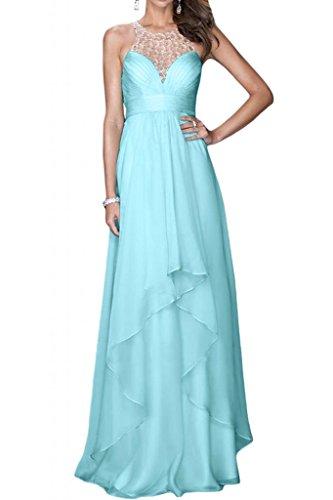 Toskana novia of Cake de dos Traeger Noche de gasa Vestidos Largo Party Ball novia Vestidos azul claro
