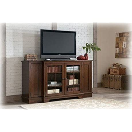 Ashley Hodgenville W684 48 72 Extra Large TV Stand Burnished Brown Finish
