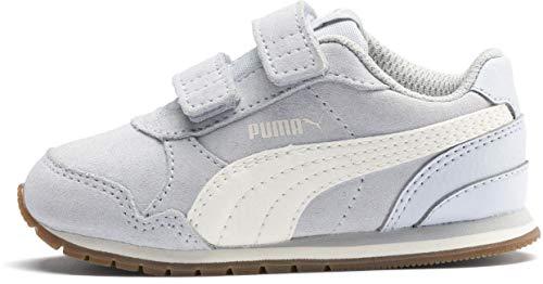 PUMA Baby ST Runner Velcro Sneaker, Heatherwhisper White-Gray Violet, 9 M US Toddler]()