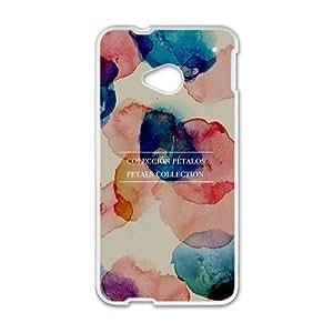 Personalized Clear Phone Case For HTC M7,Coleccion petalos