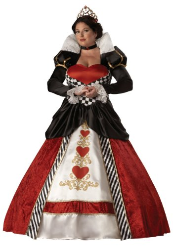 InCharacter Costumes Women's Plus Size Queen Of Hearts Costume, Red/White/Black, XX-Large]()