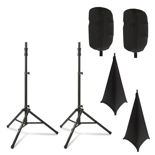 Ultimate Support TS-100 Stands with Complete Stretch Covers Set Black by Ulitmate Support