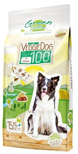 Green Petfood VeggieDog100 15kg, Vegetarisches Hundefutter Adult