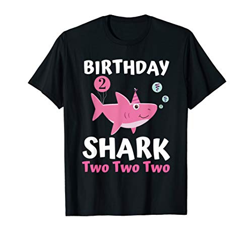 Baby Shark 2 Years Old 2nd Birthday Shirts for Kids Toddler T-Shirt