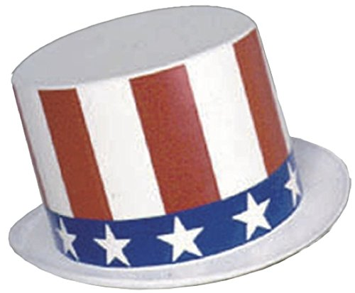 Uncle Sam Kids Costumes (Rubie's Costume Child's Uncle Sam Plastic Top-Hat)