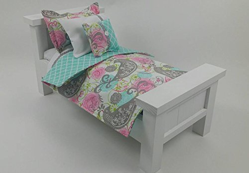 18 Doll Bedding Set, Songbird Doll Bedding Made to Fit American Girl Dolls 18 Doll Bedding Set