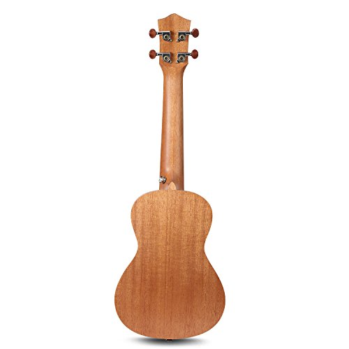 Large Product Image of Donner Concert Ukulele Mahogany DUC-1 23 inch with Ukulele Set Strap Nylon String Tuner