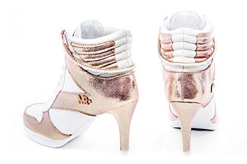 b87aca0d897941 ... MISSY ROCKZ White Pearl Sneaker High Heels Boots weiß  rose gold ...