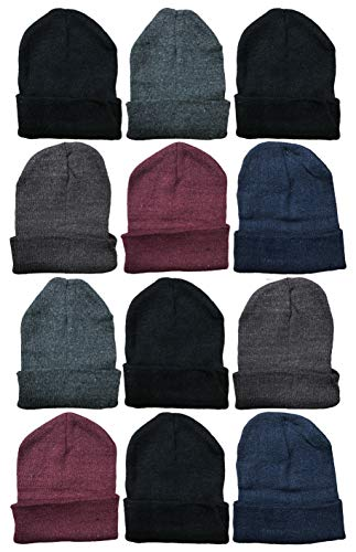8603e16cc72 Galleon - 12 Units Of Excell Mens Womens Warm Winter Hats In Assorted Colors