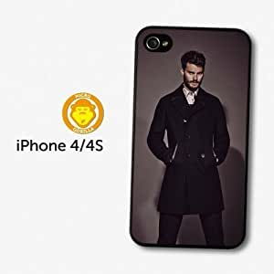 Accessories Christian Grey Jamie Dornan Posing Black Coat case For Samsung Galaxy S6 Case Cover A4218