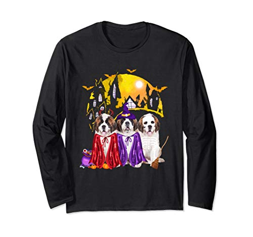 Saint Bernard Puppy Halloween (Saint Bernard Dog Family Of Three Family Halloween Gift Long Sleeve)