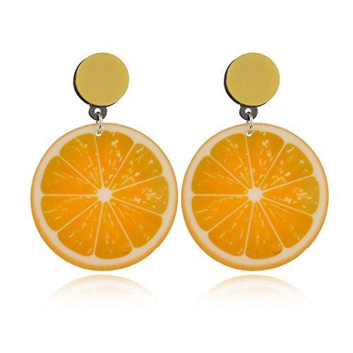 (Cute Lemon Shaped Dangle Earrings for Women,Personality Style Exaggeration Fruit Fashion Earrings (lemon))