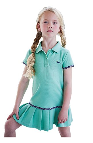 (Dakomoda Toddler Girls' Mint Green Polo Dress - 100% Pima Cotton Pleated Tennis Dress 4T)