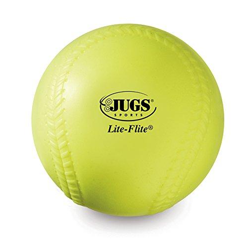 Jugs 12-inch Yellow Lite-Flite Practice Softballs (One Dozen)